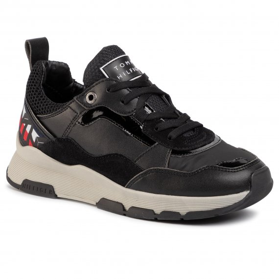 Sneakersy TOMMY HILFIGER - Sparkle Fashion Runner FW0FW04636 BDS