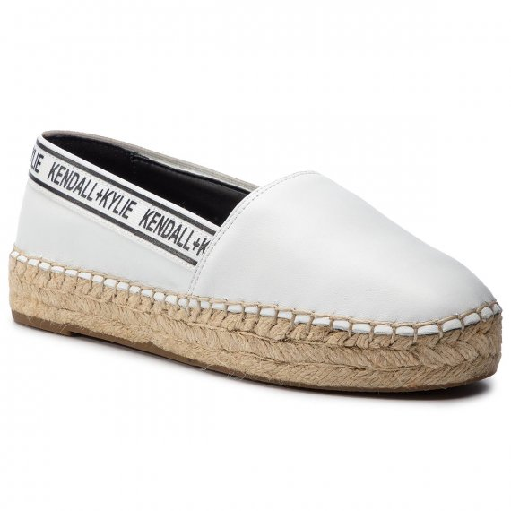 Espadryle KENDALL + KYLIE - Jager-B White Leather