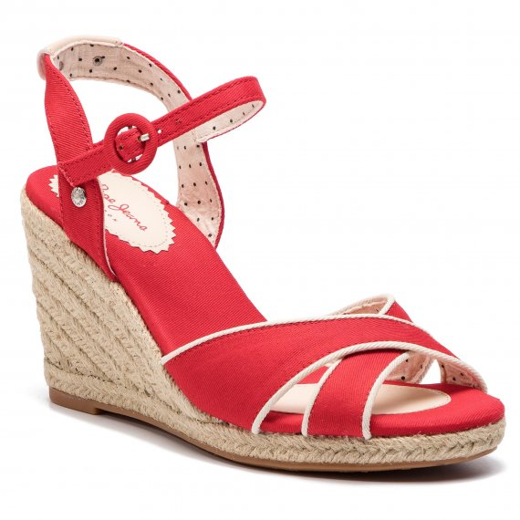 Espadryle PEPE JEANS - Shark Plain PLS90404  Red 255