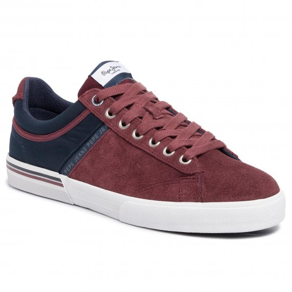 Sneakersy PEPE JEANS - North Zero PMS30561  Bordeaux 298