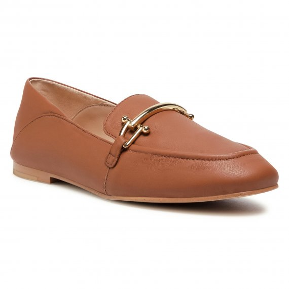 Półbuty CLARKS - Pure2 Loafer 261546584 Dark Tan Leather