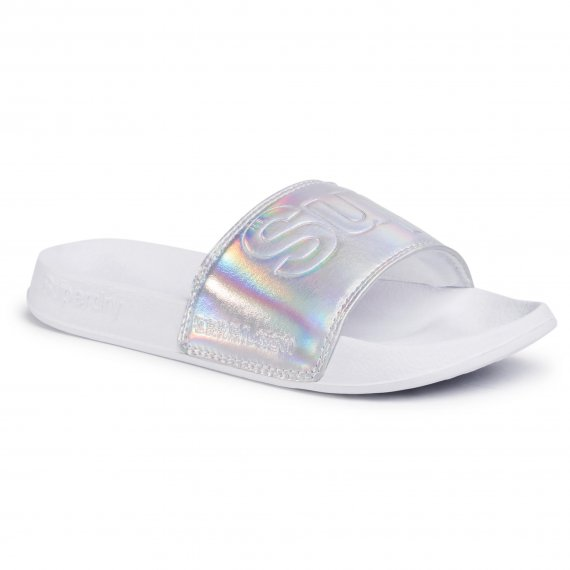 Klapki SUPERDRY - Pool Slide WF310007A Holographic K5K