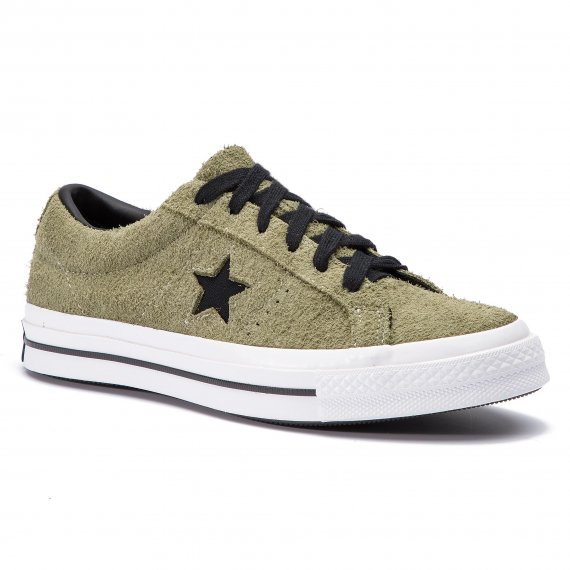 Tenisówki CONVERSE - One Star Ox 163249C Field Surplus/Black/White