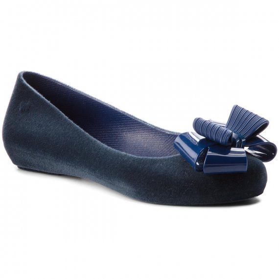Baleriny ZAXY - Pop Flocked II Fem 82542  Navy 51825 BB285029 02064