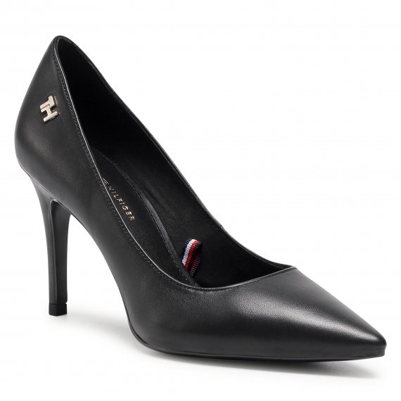 Szpilki TOMMY HILFIGER - Essential Leather High Heel Pump FW0FW05283 Black BDS