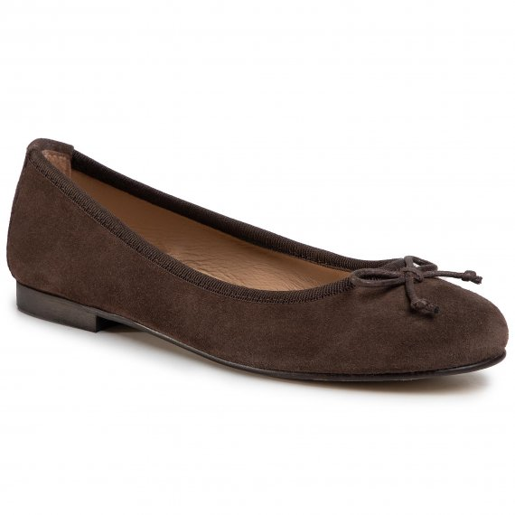 Baleriny GINO ROSSI - I020-2621 1LM Brown