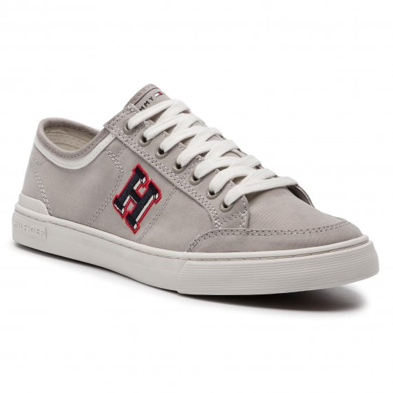 Tenisówki TOMMY HILFIGER - Core Corporate Seasonal Sneaker FM0FM02168 Cobblestone 068