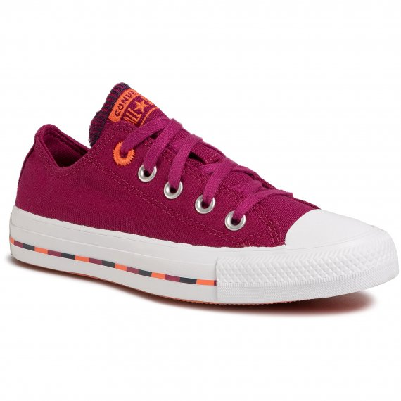 Trampki CONVERSE - Ctas Ox 566720C Rose Maroon/Vermillion Red