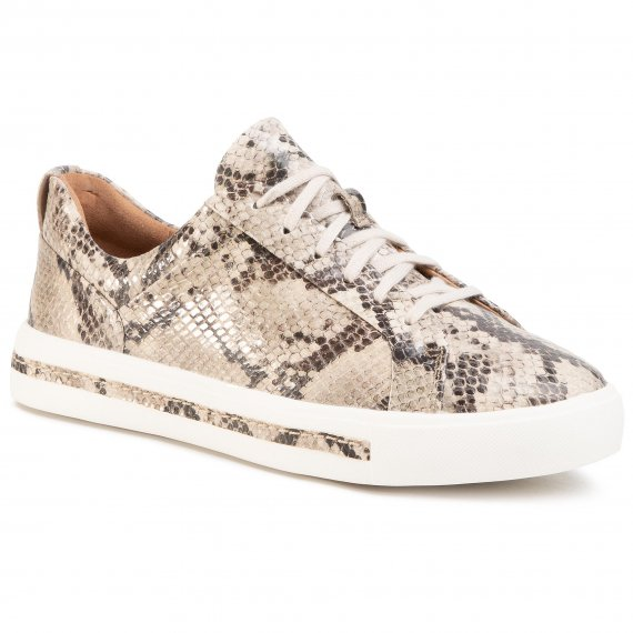 Sneakersy CLARKS - Un Maui Lace 261461464  Natural Snake