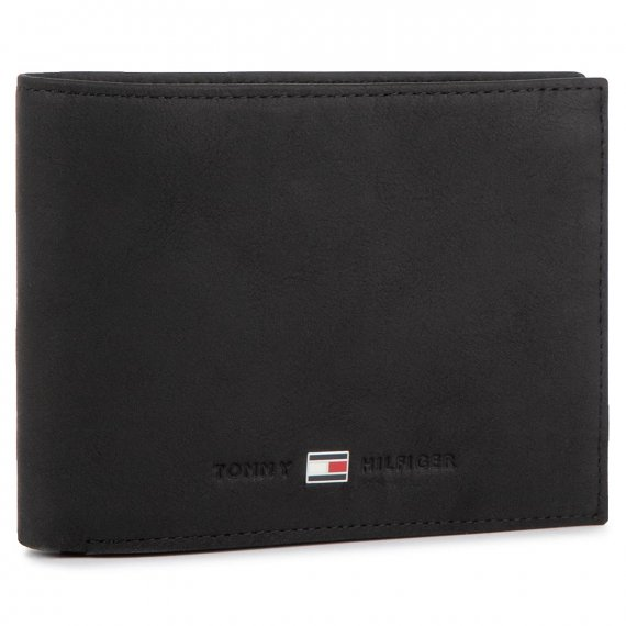Duży Portfel Męski TOMMY HILFIGER - Johnson Cc Flap And Coin Pocket AM0AM00660/82566 Black 002