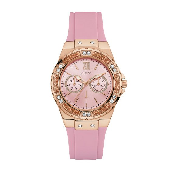 Zegarek GUESS - Limelight W1053L3  PINK/ROSE GOLD TONE