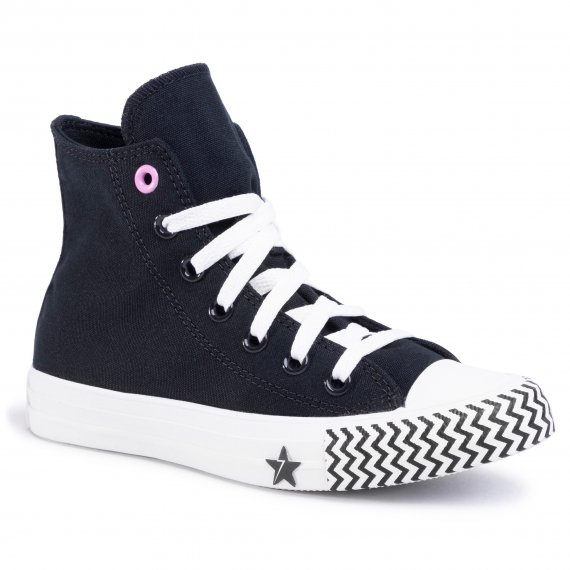 Trampki CONVERSE - Ctas Hi 566731C  Black/University Red/White