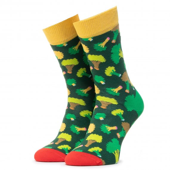 Skarpety Wysokie Unisex HAPPY SOCKS - BRO01-7300 Zielony