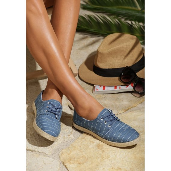 Jasnoniebieskie Espadryle All In All