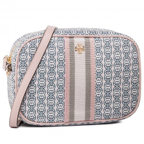 Torebka TORY BURCH - Gemini Link Canvas Mini Bag 57743 Coastal Pink/Gemini Link 685