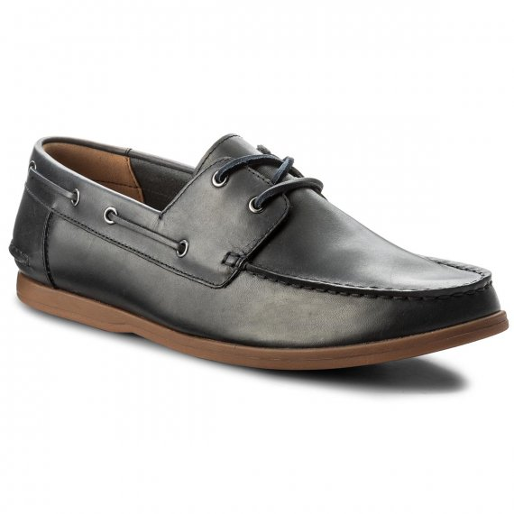 Mokasyny CLARKS - Morven Sail 261324737 Navy Leather