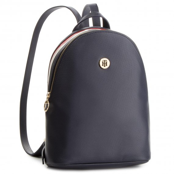 Plecak TOMMY HILFIGER - Effortless Saffiano Backpack AW0AW06129 901