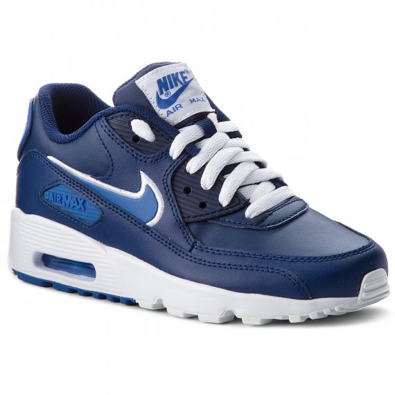 Buty NIKE - Air Max 90 Ltr (GS) 833412 409 Blue Void/Game Royal/White