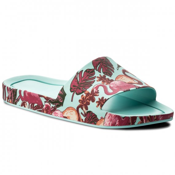 Klapki MELISSA - Beach Slide 3DB Rainbo 32389 Green/Pink 52228
