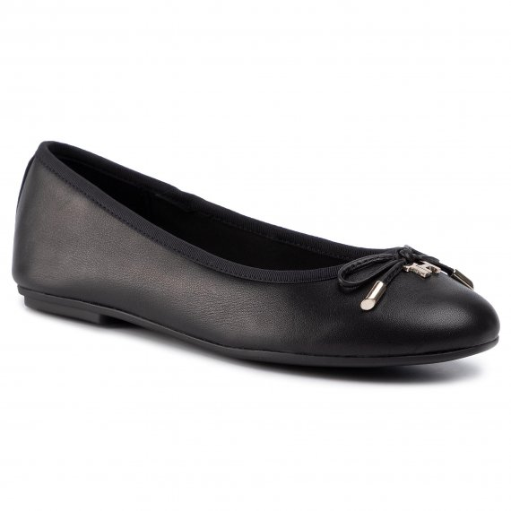 Baleriny TOMMY HILFIGER - Elevated Th Hardware Ballerina FW0FW04594 Black BDS