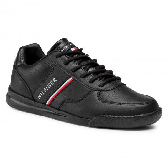 Sneakersy TOMMY HILFIGER - Lightweight Leather Mix Sneaker FM0FM02988 Black BDS