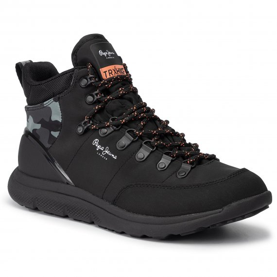 Trzewiki PEPE JEANS - Hike Mountain Nylon PMS30564 Black 999