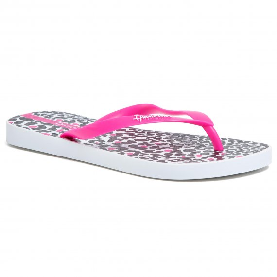Japonki IPANEMA - Animal Print IV Fem 82881 White/Pink 20755