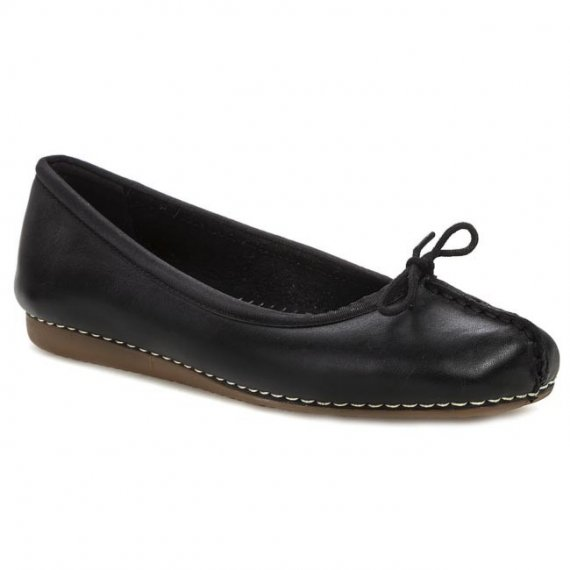 Baleriny CLARKS - Freckle Ice 203529294 Black Leather