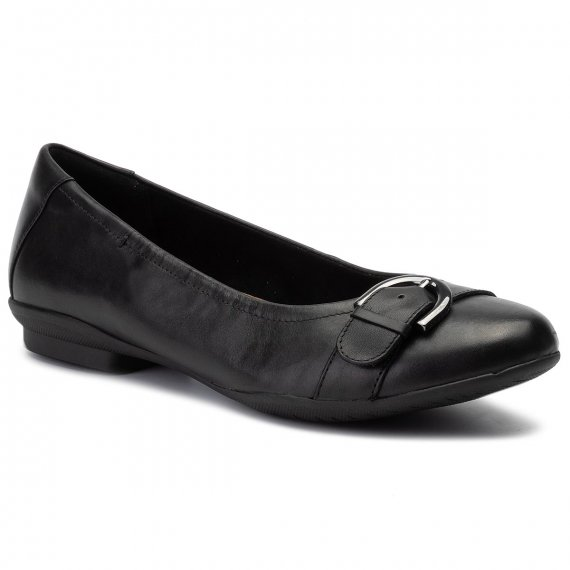 Baleriny CLARKS - Neenah Lark 261356475 Black Leather