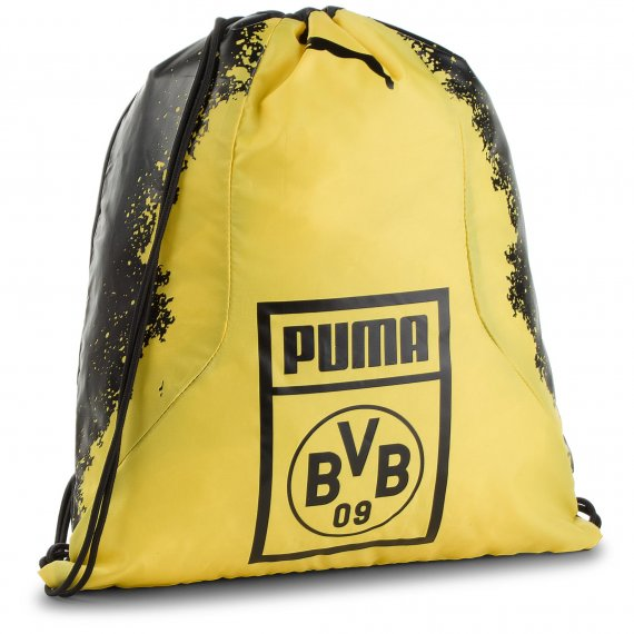Plecak PUMA - Bvb Fan Gym Sack 075568 01 Puma Black/Cyber Yellow