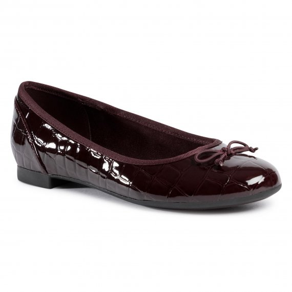 Baleriny CLARKS - Couture Bloom 261514714  Burgundy