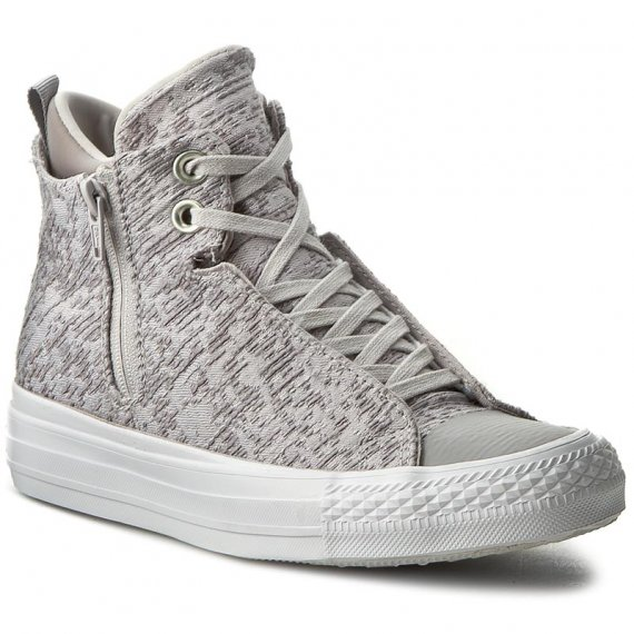 Trampki CONVERSE - Ctas Selene Winter Knit Mid 553356C Mouse/Dolphin/White