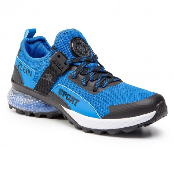 Sneakersy PLEIN SPORT - Runner Tiger P19S MSC2106 STE003N Middle Blue 08