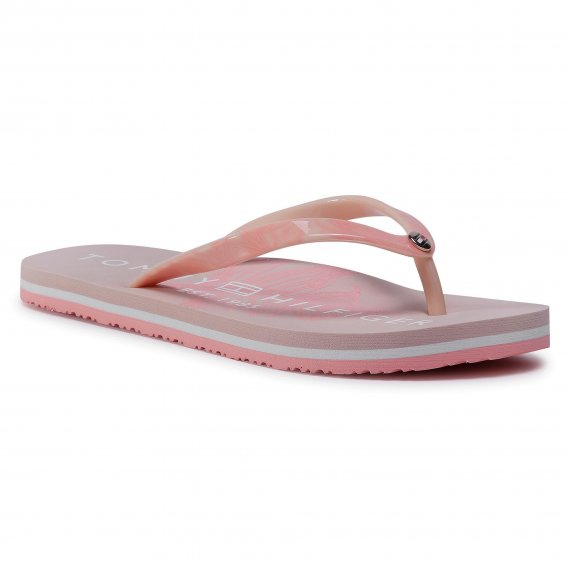 Japonki TOMMY HILFIGER - Tropical Fade Plat Beach Sandal FW0FW04991 Cameo TM0