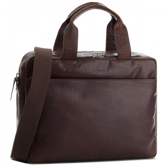 Torba na laptopa STRELLSON - Coleman 2.0 4010002309 Dark Brown 702