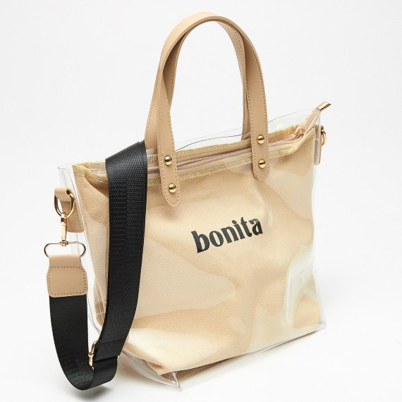 House - Torba shopper mini z napisem - Beżowy