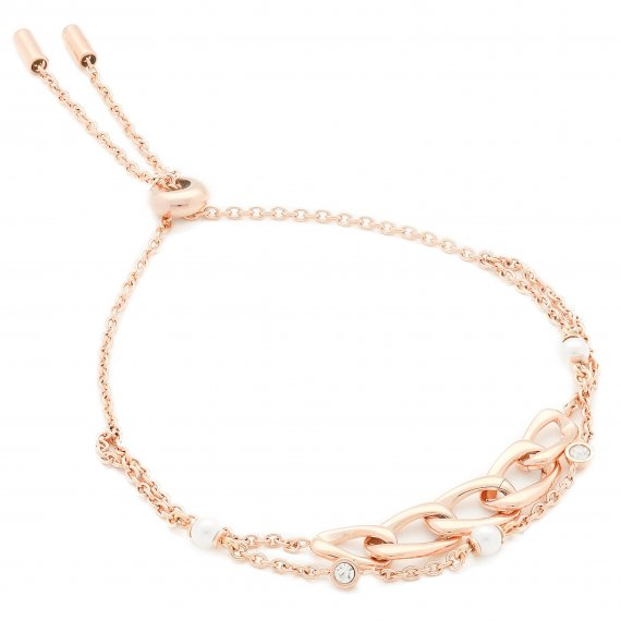 Bransoletka FOSSIL - Vintage Links JF03349791  Rose Gold