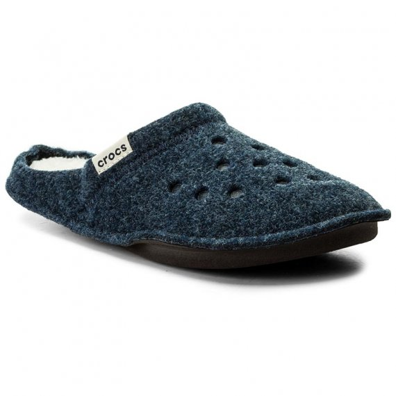 Kapcie CROCS - Classic Slipper 203600 Nautical Navy/Oatmeal