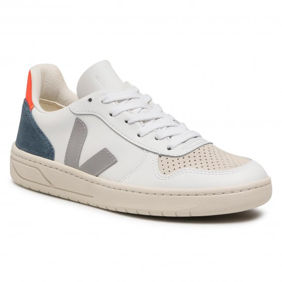 Sneakersy VEJA - V-10 Leather VX022303B Extra White