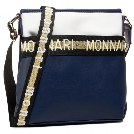 Torebka MONNARI - BAG0190-013 Navy With White 2021