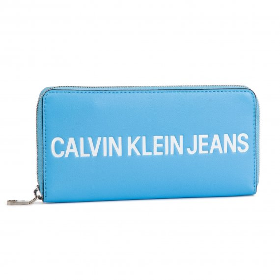 Duży Portfel Damski CALVIN KLEIN JEANS - Sculpted Logo Large Zip Around K60K605266 445