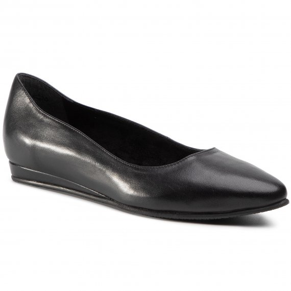 Baleriny TAMARIS - 1-22118-25 Black Leather 003
