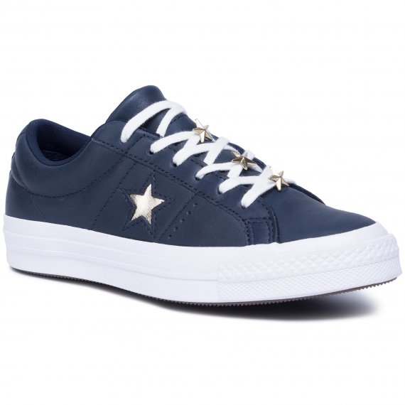 Tenisówki CONVERSE - One Star Ox 165021C Obsidian/Light Gold/White
