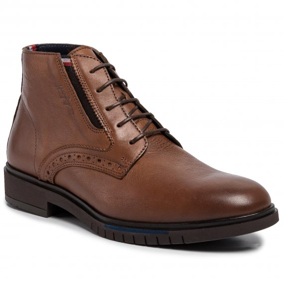 Trzewiki TOMMY HILFIGER - Th Advance Brogue Boot FM0FM02410  Cognac 606