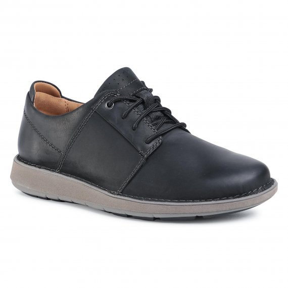Półbuty CLARKS - Un LarvikLace2 261550847  Black Leather