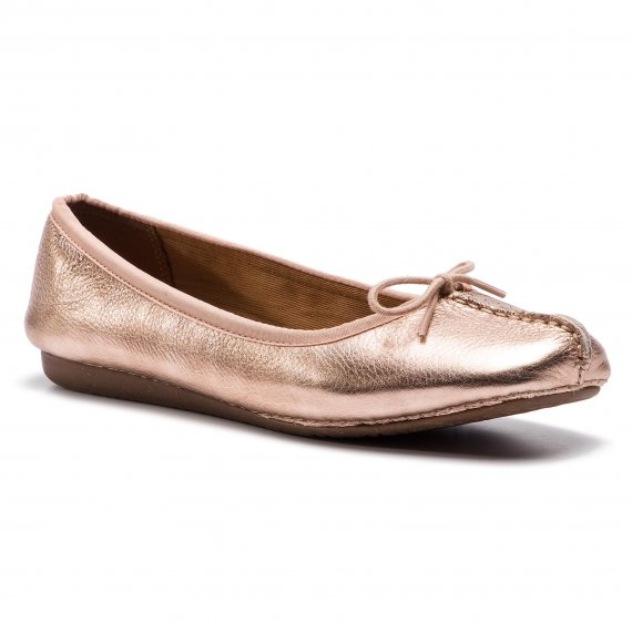 Baleriny CLARKS - Freckle Ice 261397274 Rose Gold