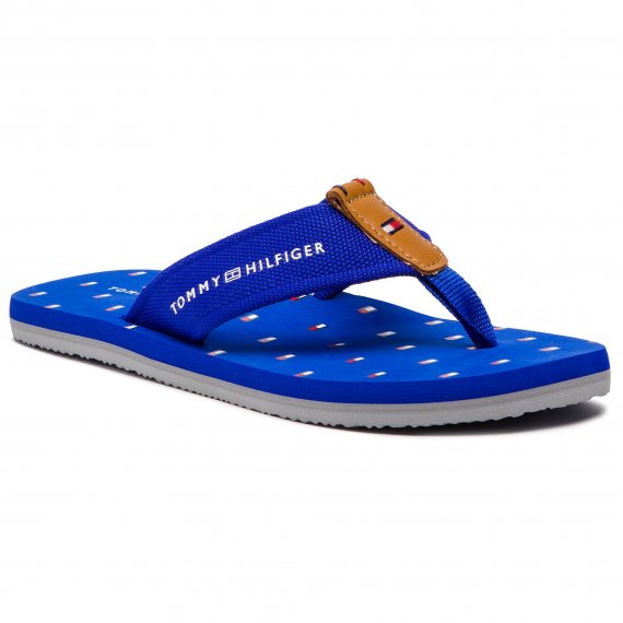 Japonki TOMMY HILFIGER - Mini Flag Footbed Beach Sandal FM0FM01930 Surt The Web 425