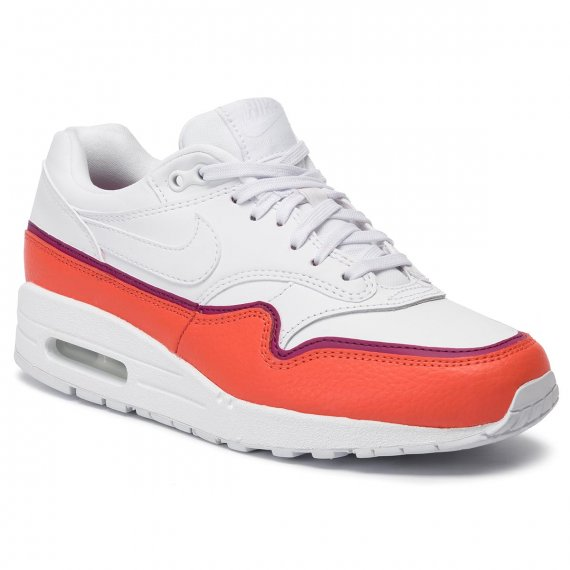 Buty NIKE - Air Max 1 Se 881101 102 White/White Team Organe
