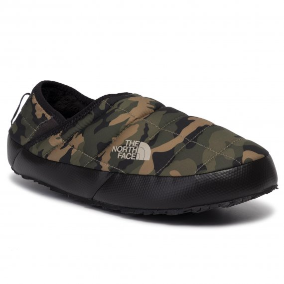 Kapcie THE NORTH FACE - Thermoball Traction Mule V T93UZNFQ3  Burnt Olive Green Woodland Camo Print/Tnf Black
