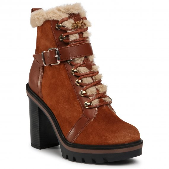 Botki TOMMY HILFIGER - Tommy Warm Lined High Heel Boot FW0FW05187 Pumpkin Paradise GOW